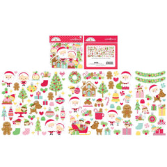 Doodlebug - Odds & Ends Die-Cuts - Christmas Magic, 105 pack