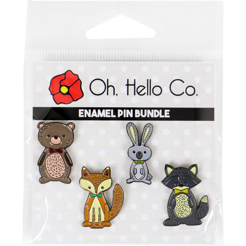 Oh Hello Enamel Pins 4 pack - Autumn Critters