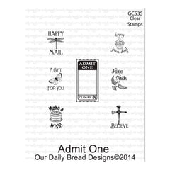 Our Daily Bread Clear Stamps 3X2 - Admit One