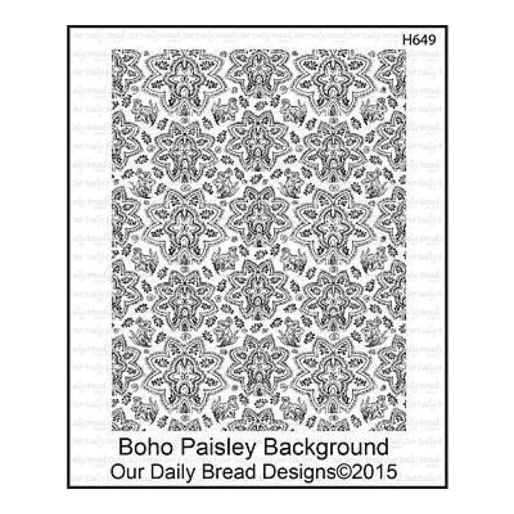 Our Daily Bread Cling Rubber Stamp 5 Inch X6.75 Inch  Boho Paisley Background