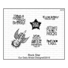 Our Daily Bread Cling Rubber Stamp Set - Rock Star