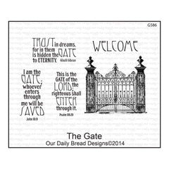 Our Daily Bread Cling Rubber Stamp Set - The Gate