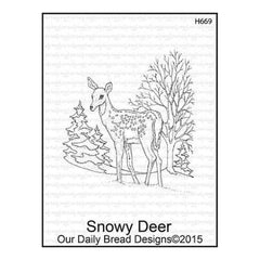 Our Daily Bread Cling Stamps 3.75 Inch X6 Inch  Snowy Deer