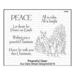 Our Daily Bread Cling Stamps 5X6.75 Peaceful Deer