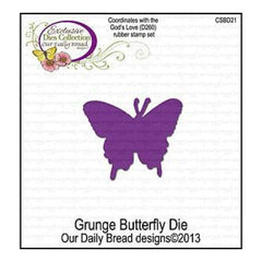 Our Daily Bread Dies Grunge Butterfly