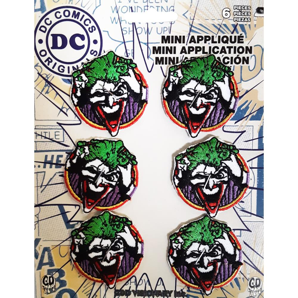 C&D Visionary DC Comics Patch - Joker Face Set 6 pieces