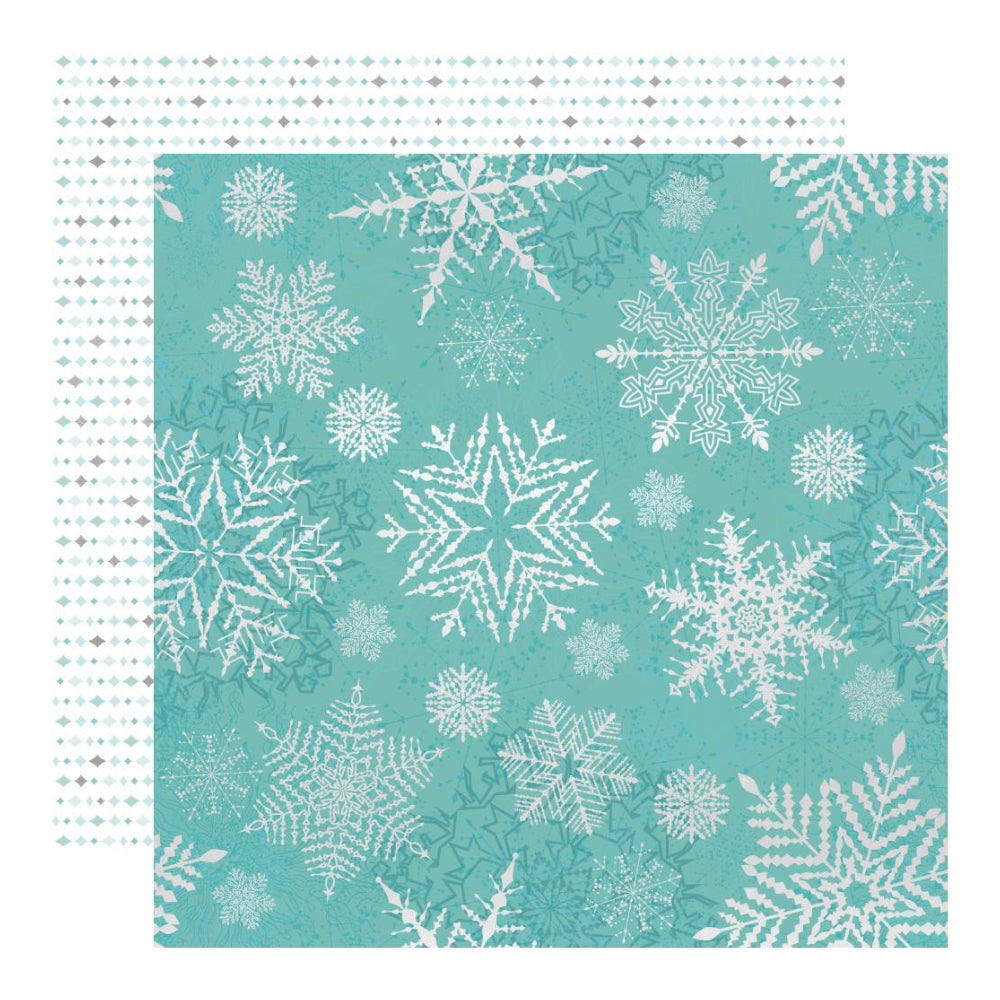 Kaisercraft Double-Sided Cardstock 12inX12in - Falling Snowflakes