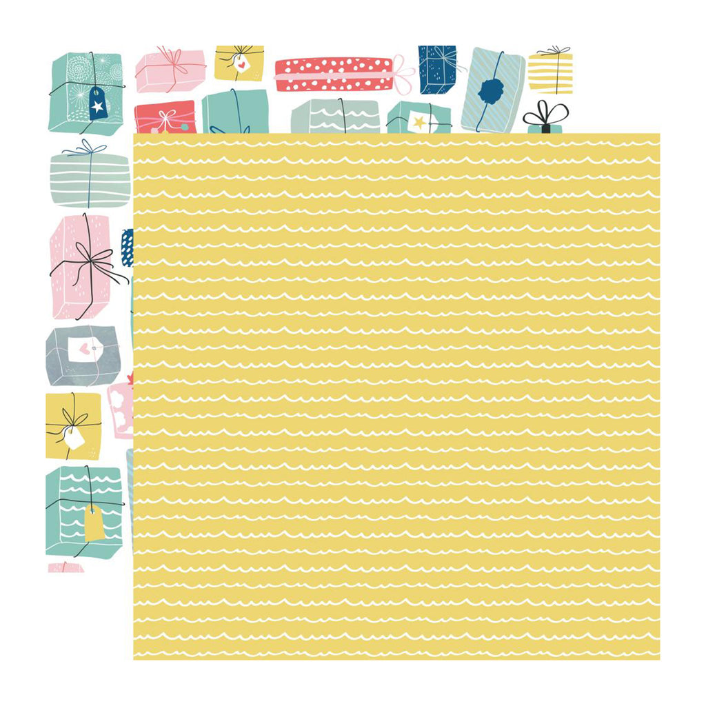 Kaisercraft - Oh Happy Day! Collection - Double-Sided Cardstock 12in X 12in - Wrapped Up
