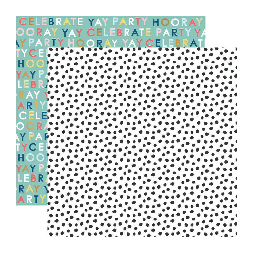 Kaisercraft - Oh Happy Day! Collection - Double-Sided Cardstock 12in X 12in - Yay!