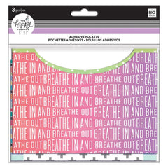 Happy Planner Big/Medium Adhesive Pockets 4.5inch X6.5inch 3 pack - Healthy Hero