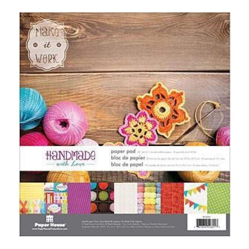 Paper House Double-Sided Paper Pad 12Inch X12inch  24 Pack Handmade