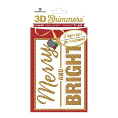 Paper House Led Shimmers Embellishment Merry & Bright