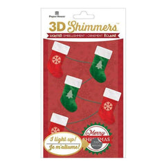 Paper House Led Shimmers Embellishment Stocking Garland