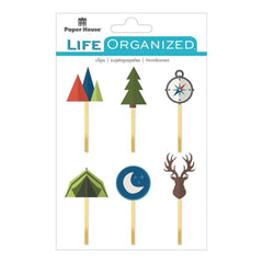 Paper House Life Organized Epoxy Clips 6 pack Outdoors
