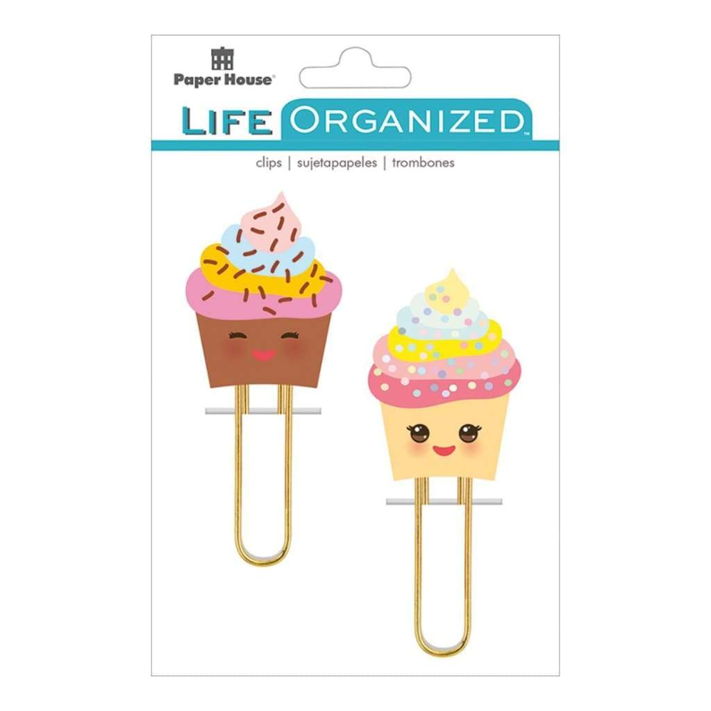 Paper House Life Organized Puffy Clips 2 Kawaii Cupcakes