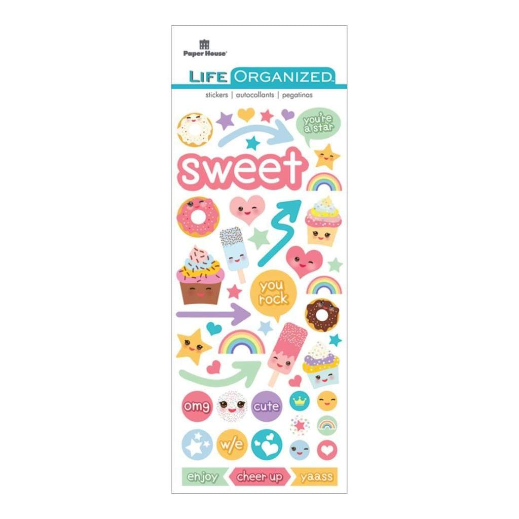 Paper House Life Organized Puffy Sticker 6.5 inch X3 inch Kawaii