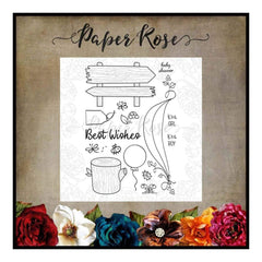 Paper Rose Studio - Bush Babies Accessories Clear Stamp Set