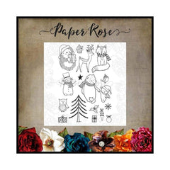 Paper Rose Studio - Cozy Winter Clear Stamp Set