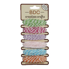 Paper Twine 5m 6 pack - Rose Stripe