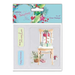 Papermania At Christmas Clear Stamps 4 Inch X4 Inch  Chair