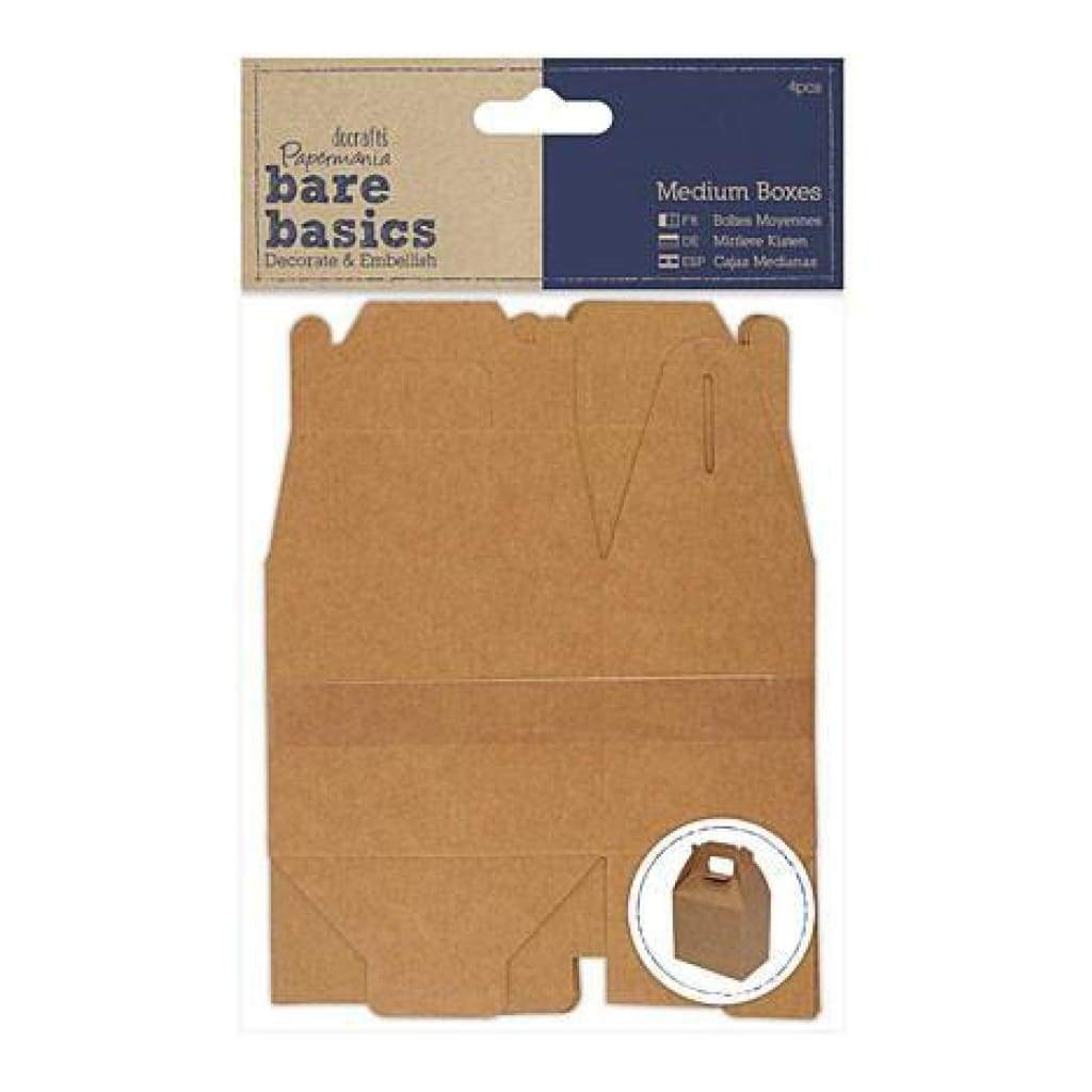 Papermania Bare Basics Medium Boxes 4 Pack