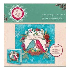 Papermania Bellissima Christmas 6 Inch X6 Inch  Decoupage Card Kit