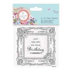 Papermania Bellissima Clear Stamps 4 Inch X4 Inch  Picture Frame