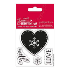 Papermania Create Christmas Small Clear Stamps Nordic Heart