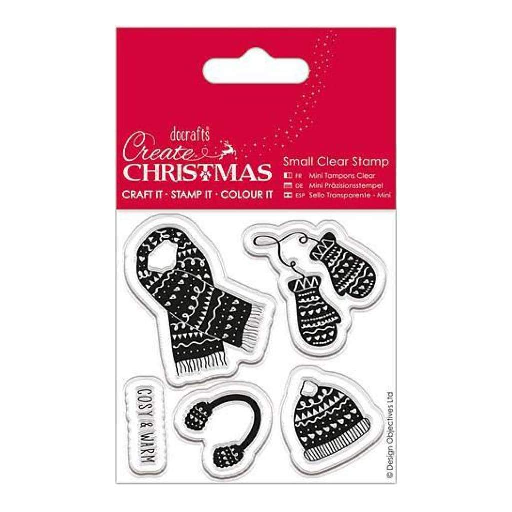 Papermania Create Christmas Small Clear Stamps Warm & Cozy