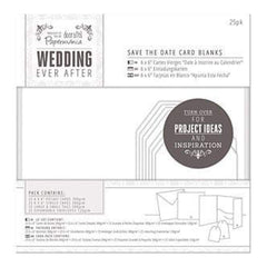 Papermania Ever After Wedding Blank Cards 25 Pack  White Die-Cut Heart