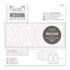 Papermania Ever After Wedding Card Wraps -  White Damask Screen Print