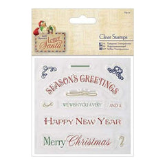 Papermania Letter To Santa Clear Stamps 4 Inch X4 Inch  Greetings
