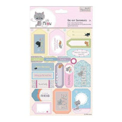 Papermania Little Meow Sentiments Die-Cuts 2/Sheets Sentiments
