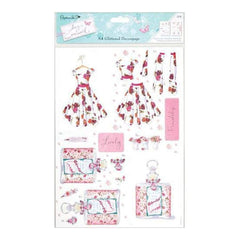Papermania Lucy Cromwell A4 Decoupage Pack 2/Sheets Garden Party With Glitter Accent