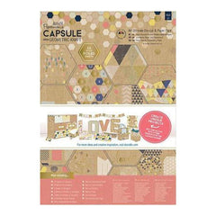 Papermania Ultimate A4 Die-Cuts & Paper Pack 48 Pack Geometric Kraft