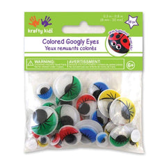 Paste-On Googly Eyes 72 pack Assorted