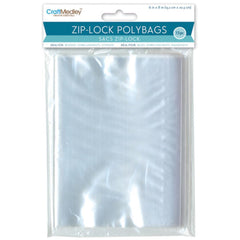 Multicraft Imports - Ziplock Polybags 15 pack - 6 inch X8 inch Clear