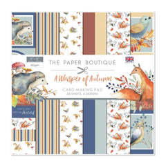 The Paper Boutique - A Whisper of Autumn - 12 inch x 12 inch Card Making Pad with 36 sheets