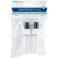 Multicraft Imports - Dropper Bottles 2 pack - 20ml