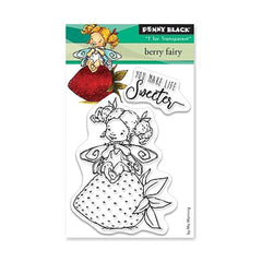 Penny Black Clear Stamps - Berry Fairy 3 inch X4 inch