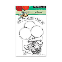 Penny Black Clear Stamps - Airborne 3 inch X4 inch