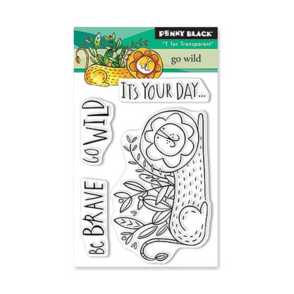 Penny Black Clear Stamps - Go Wild 3 inch X4 inch