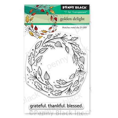 Penny Black Clear Stamps - Golden Delight 3 inchX4 inch