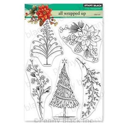 Penny Black Clear Stamps - All Wrapped Up 5 inchX6.5 inch