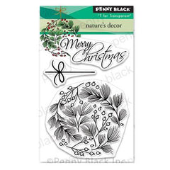 Penny Black Clear Stamps - Natures Decor 3 inchX4 inch