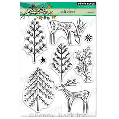 Penny Black Clear Stamps - Oh Deer 5 inchX6.5 inch