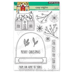 Penny Black Clear Stamps - Cozy Nights 5 inchX6.5 inch