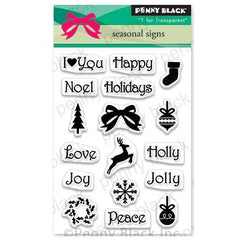 Penny Black Clear Stamps - Seasonal Sign 3 inchX4 inch