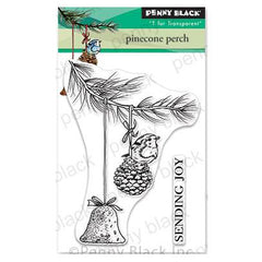 Penny Black Clear Stamps - Pinecone Perch 3 inchX4 inch
