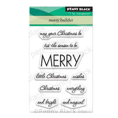 Penny Black Clear Stamps - Merry Builder 3 inchX4 inch